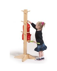 Wooden Apron and Clothes Stand