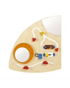Quarter Circle Left - Sensory Learning Wall Panel