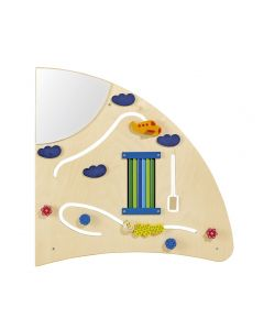Quarter Circle Right - Sensory Learning Wall Panel