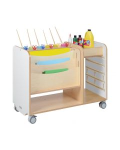 Art and Craft Trolley Station 800H- White