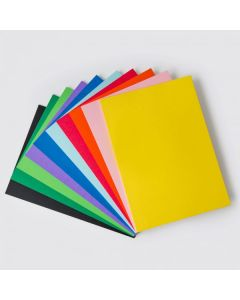 A4 or A3 Cover Paper 125GSM 100 Sheets 10 Assorted Colours