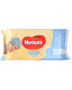 Huggies Baby Wipes Pure Unscented 56 Pack