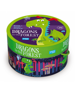 Dragon in the Forest Book and Giant Puzzle Set
