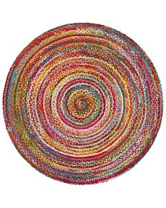 Atrium Chindi Multi Colour Rug - 1200mm Round