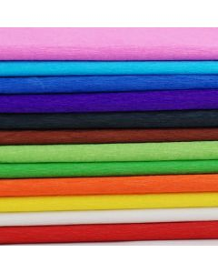 596 x 2286 Crepe Paper 12 Sheets 12 Assorted Colours