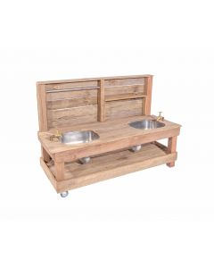 Birrabang Outdoor Double Mud Kitchen  with Back