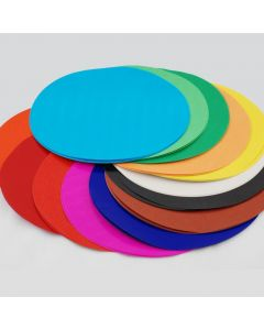 Glossy Circles 100 Sheets 12 Assorted Colours