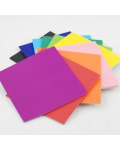 250 x 250 Matte Squares 360 Sheets 10 Assorted Colours