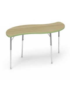 Virco Leaf 1500L x 750W Table with Adjustable Legs 425 x 625mmH Green Apple Edging