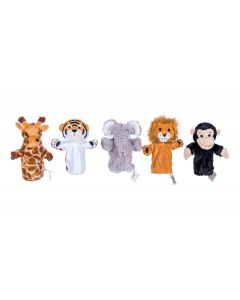 Assorted Jungle Animal Puppets Set of 5