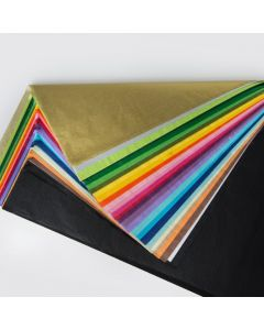 Tissue Paper 100 Sheets 10 Assorted Colours