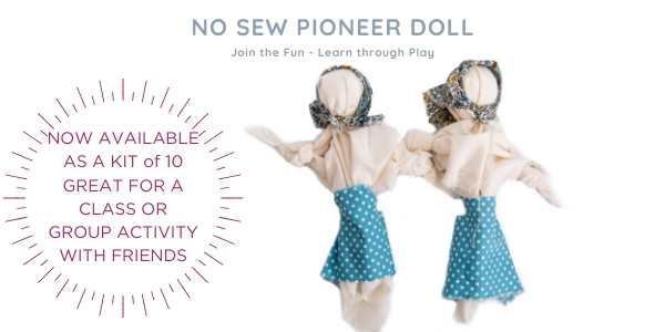No Sew Pioneer Doll